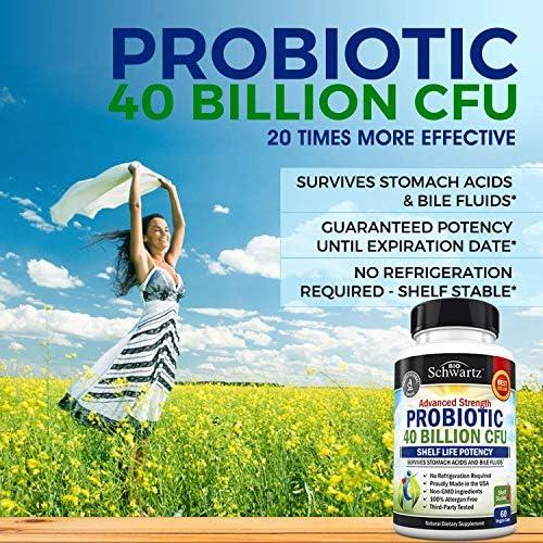 Probiotic 40 Billion CFU Guaranteed Potency until Expiration - Patented Delay Release, Shelf Stable - Gluten Dairy Free Probiotics for Women & Men - Lactobacillus Acidophilus - No Refrigeration Needed 7