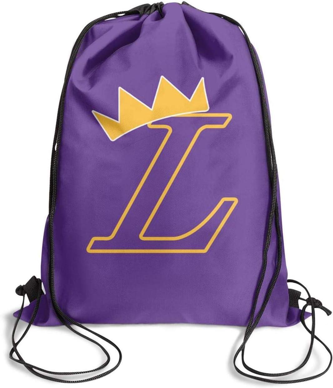 GUYI3 Drawstring Dancing Cool LA-King-Basketball-Player Drawstring Bags for Women /& Men