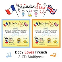 BilinguaSing French Bilingual Nursery Rhymes Music for Children 2 CD Multipack (Baby Loves French) …