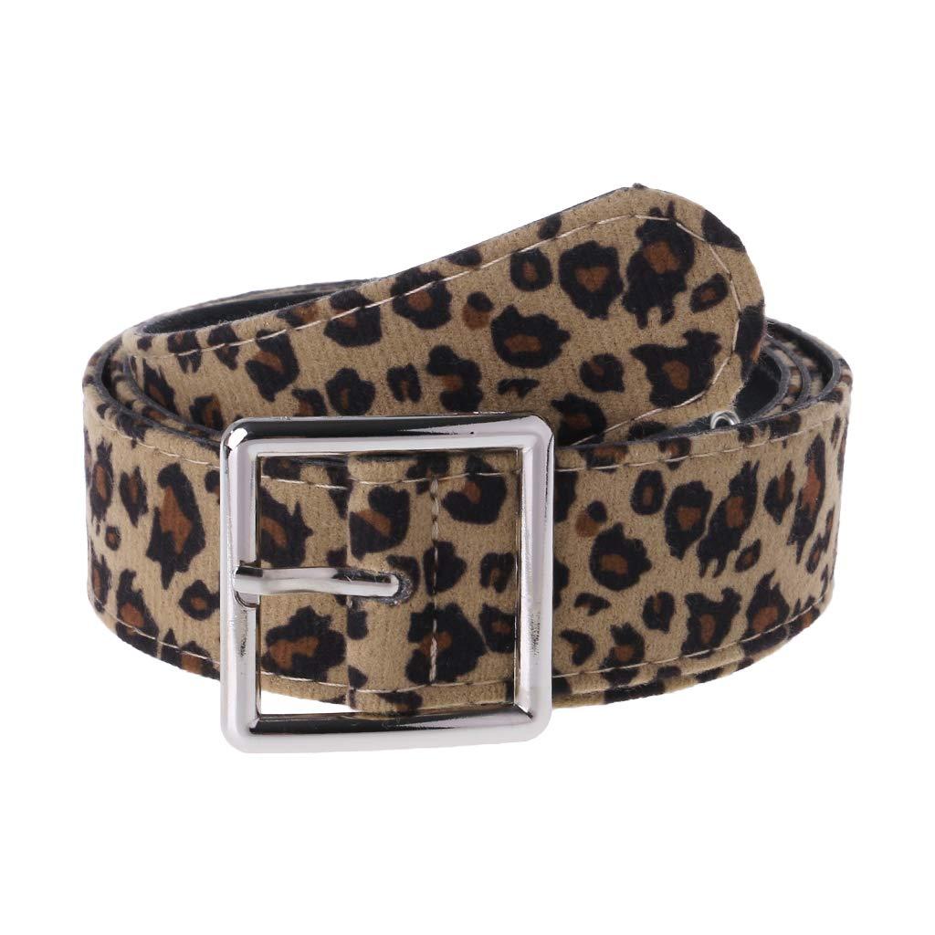 CADANIA Cinturón con Estampado de Leopardo Vestido de Mujer Correa Cinturones Cinturones Accesorios de Vestir Femeninos Ajustable Cuadrado Decoración