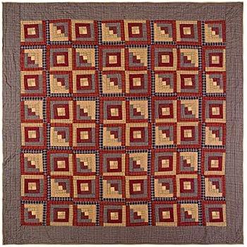 VHC Brands Rustic & Lodge Bedding - Millsboro Red Quilt, Queen, Burgundy