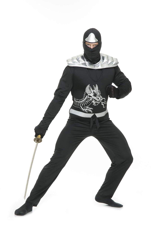 Amazon.com: Charades Black Ninja Avenger Adult Costume: Clothing