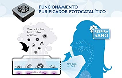 Envirotrol Anti-Virus Purificador Aire Anti-Virus, Acero, Gris ...