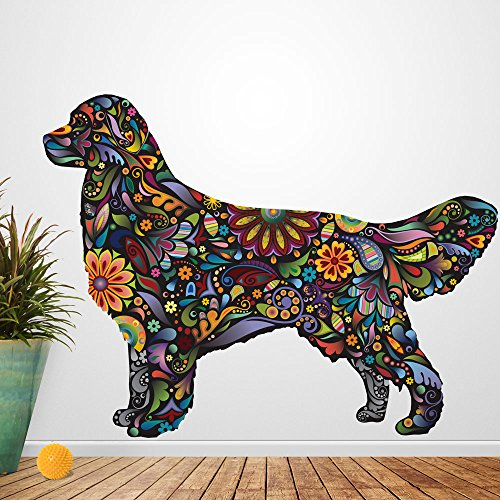 My Wonderful Walls Golden Retriever Dog Decal Wall Sticker