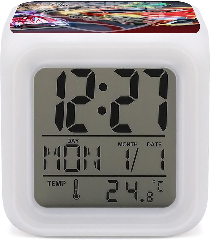 R-ocket L-eague R-ocket L-eague L-eague Cambio de color Reloj despertador siete colores