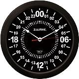 """(トリンテック) TRINTEC ズール(Zulu Time) 壁掛時計(黒) 24時間 - 14"""""""