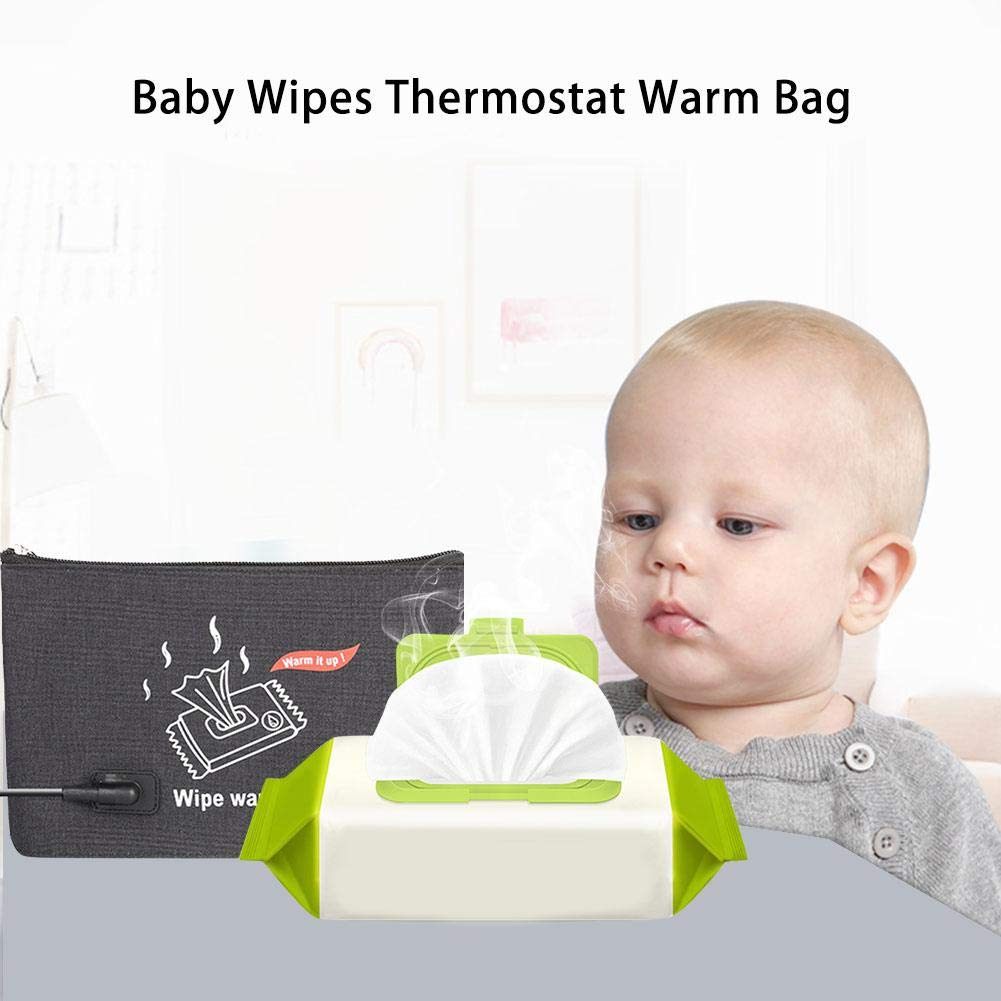 weemoment 12V/1.6A Portable Car Wipes Heater Baby Wipes Thermostat Warm BagWipes Warmer Dispenser First-Rate by weemoment