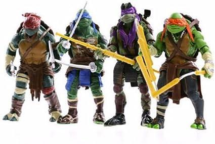 6pcs Movie Teenage Mutant Ninja Turtles TMNT Action Figures Doll Kids Toy Gift