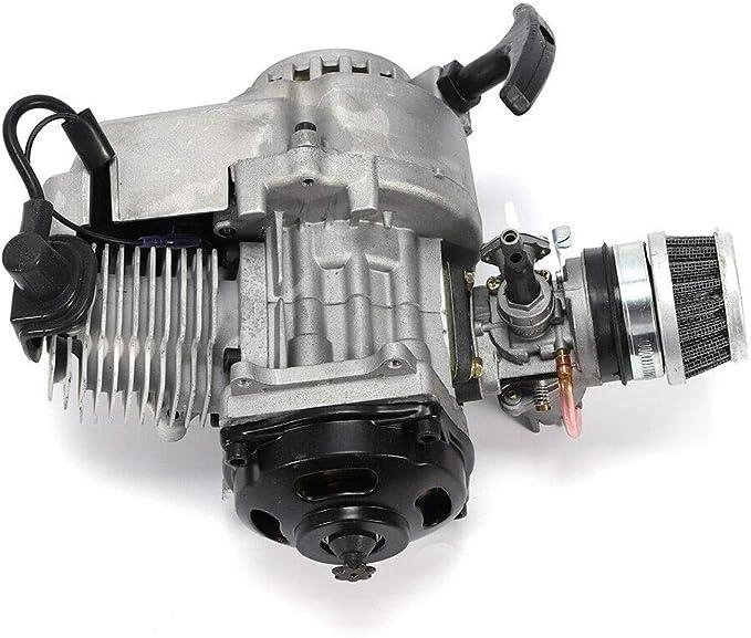mini monopattino ATV scooter ATV. Motore 49 CC a 2 tempi per mini moto da corsa con borsa di avviamento per fuoristrada mini moto da 49 cm3