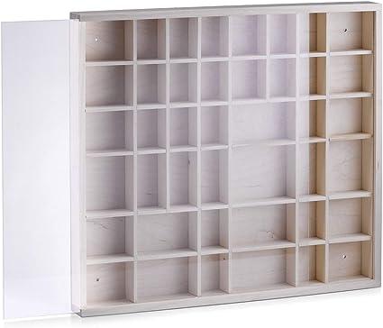 Zeller 12112 Caja Expositora de Pared, Pino, Marrón, 45x40x4.5 cm