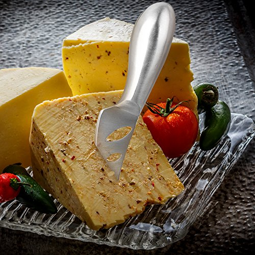 KANGORA 6 Piece Cheese Knife Set Complete Premium Stainless Steel Comfortable Cheese Knives Collection Hold Cut Shave Slice Spread Serve All Types of Cheese Gift Set