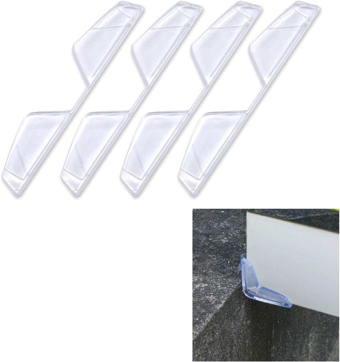 Hypersonic Car Door Edge Guards Protector Universal Clear Corner Bumper 4PCS