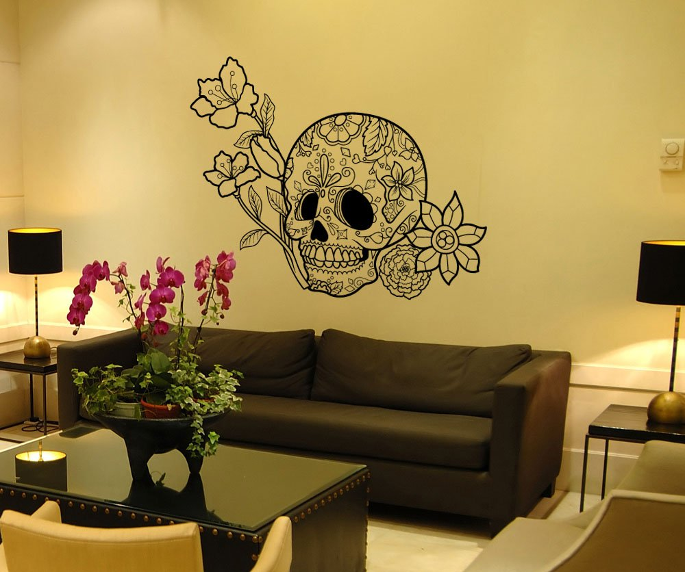 Amazon.com: Stickerbrand Vinyl Wall Art Decal Sticker Flowers and ...