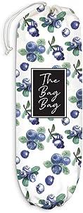 Blueberry Fruit Plastic Bag Holder Grocery Shopping Bags Carrier Storage Organizer Dispenser, Home Kitchen Bathroom Farmhouse Decor, Gift for Hostess, Friend, Housewarming, Thanksgiving, Christmas
