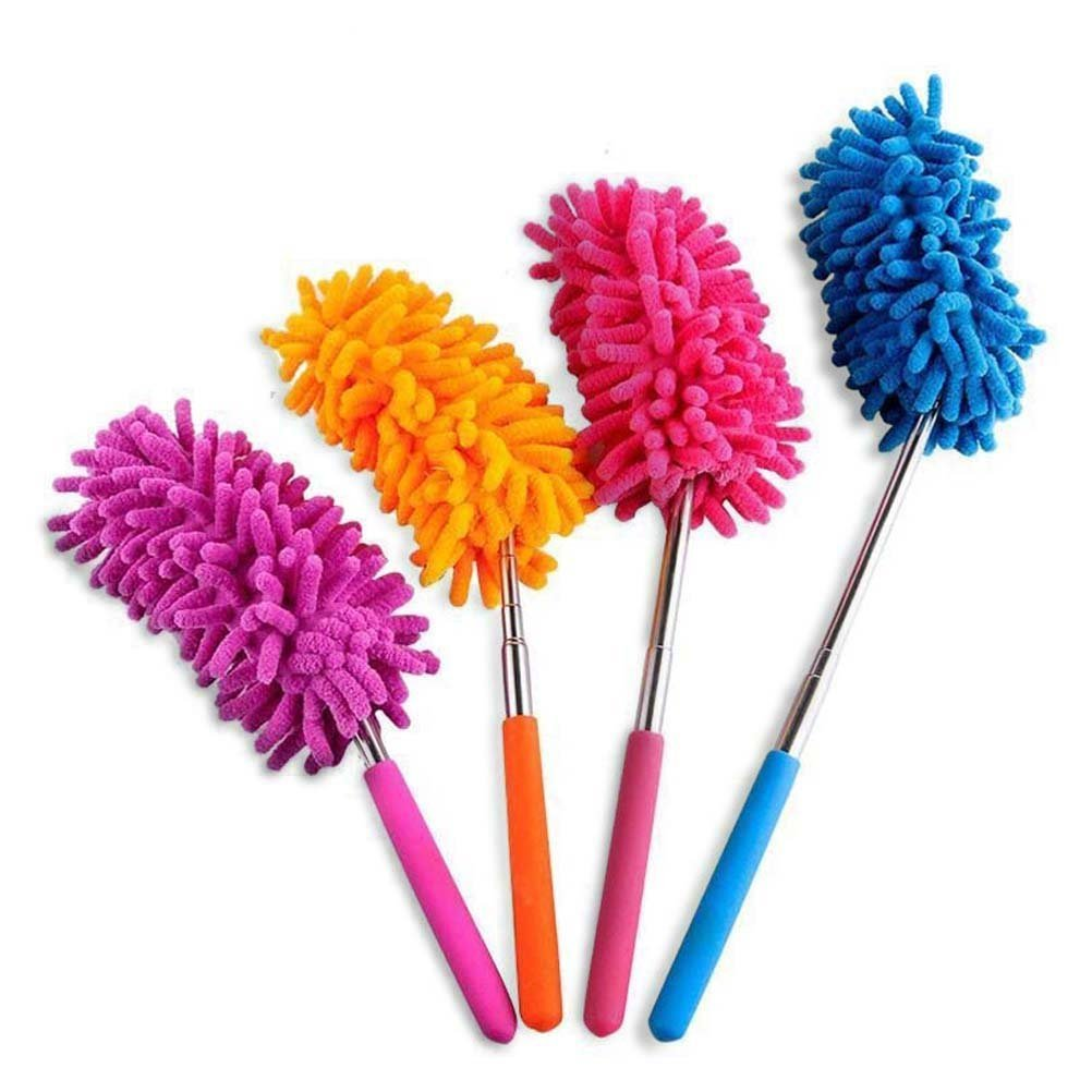 Powertiger Telescoping Microfiber Duster Extendable 11-30 inch Cleaning Dust Home Office Car Tool Detachable (4 Pack) a-001
