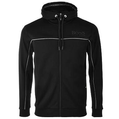 6ae023845 Black Mens HUGO BOSS Green Saggy Full Zip Hoodie Black - Medium: Amazon.co. uk: Clothing