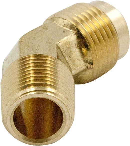 Nigo Industrial Co. 90 Degree Elbow 1//4 Flare x 1//4 Male Pipe 1, 1//4 Flare x 1//4 Male Pipe NIGO Forged Brass Tube Fitting