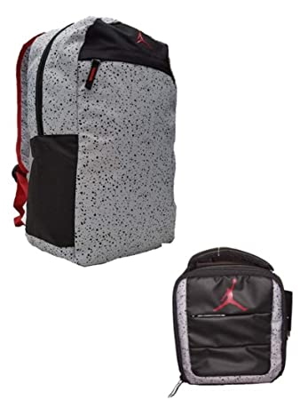 22db96039b2 Amazon.com   Nike Air Jordan Youth Jumpman Backpack   Lunch Tote Bag Set +  FREE Cell Phone Dust Plug   Backpacks