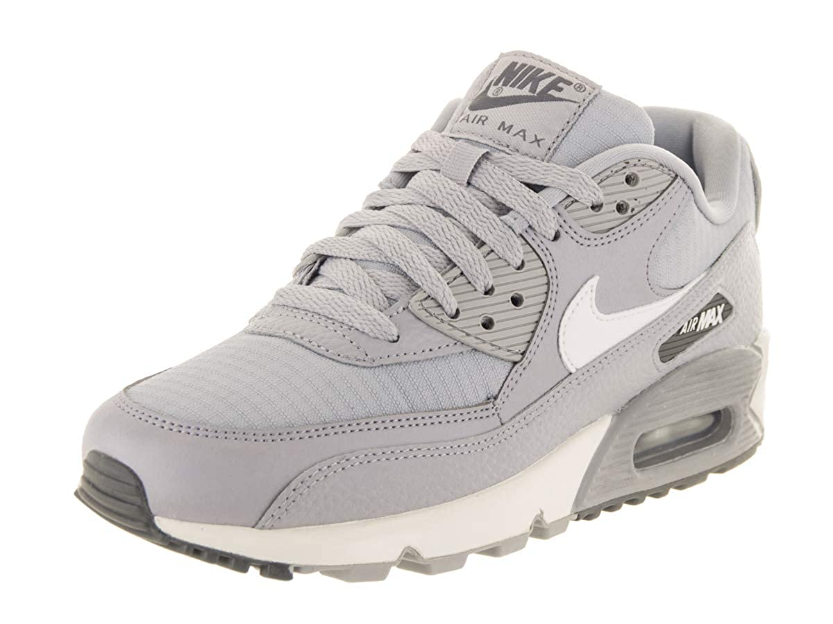 3995adfd Amazon.com | Nike Women's Air Max 90 Sneakers, Wolf Grey/Summit White-Dark  Grey (US 10) | Running