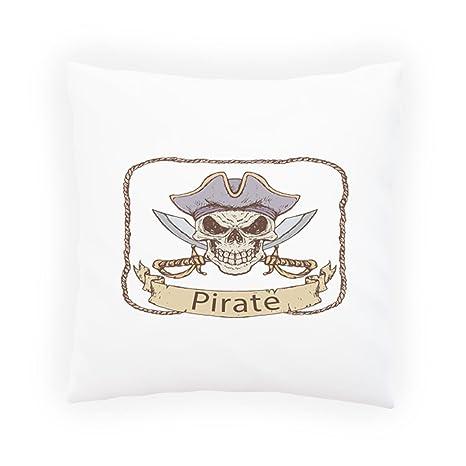Capitán Arte Del Cráneo Del Pirata Almohada decorativa ...