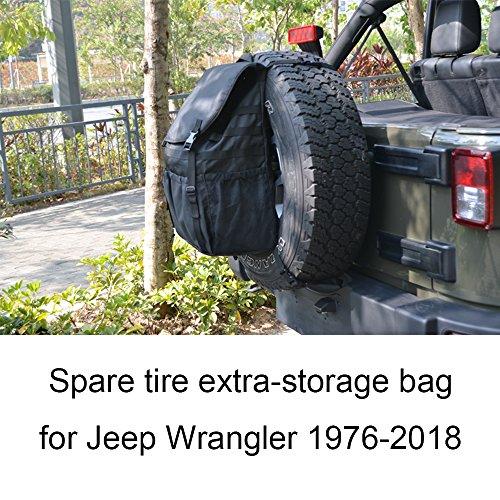 Joytutus For Jeep Wrangler Cargo Storage Bag Spare Tire Backpack Organizer for JK YJ TJ FJ 1976-2018 by Joytutus
