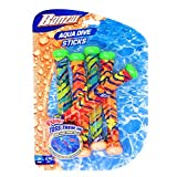 Banzai Aqua Dive Sticks Pool & Swimming Toy 5 Pack