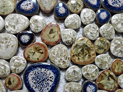 11pcs porcelain pebble mosaic tile kitchen backsplash wallpaper bathroom swimming pool wall ceramic tiles garden saloon floor ()