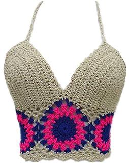 6dd2efd7c4 Amazon.com  Bra Top ,Beautyvan Comfortable Women Lace Crochet ...