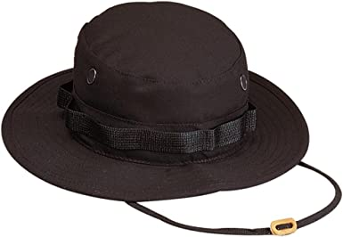Propper US Outdoor Leisure Boonie Cap Hat SWAT Police Boonie Black Black