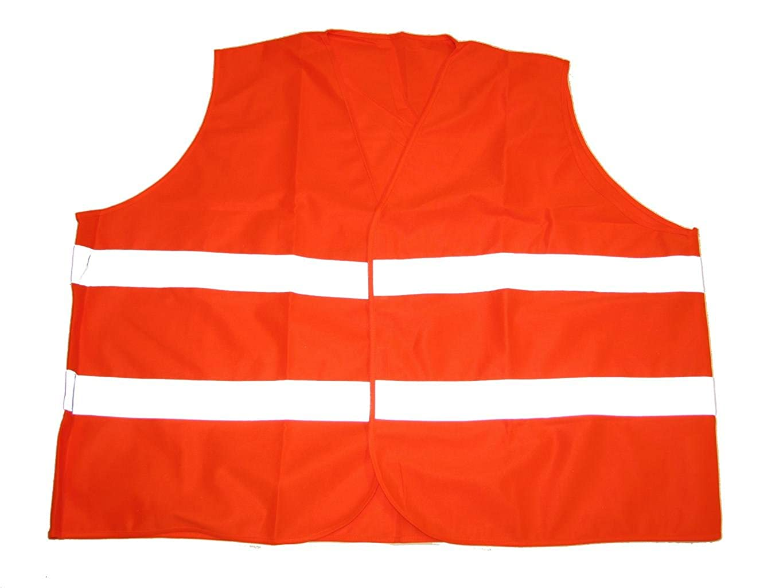 BigTiger Warnweste in /Übergr/ö/ße,6XL 10XL Orange 8XL