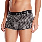 Calvin Klein Men's Bold Dimensions Micro Low Rise Trunk (Limited Edition), Slotted Grid Print, Large