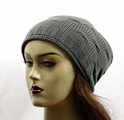 48844c587e1 Amazon.com   (D Y)Brand New Stylish Soft Women Long Beanie Hat Fashion  Winter Cap 70(Gray)   Everything Else