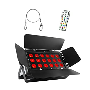 Amazon.com: Chauvet SlimBANK T18 USB DJ RGB LED Sound Activated Wall Wash Light & D-Fi USB: Musical Instruments