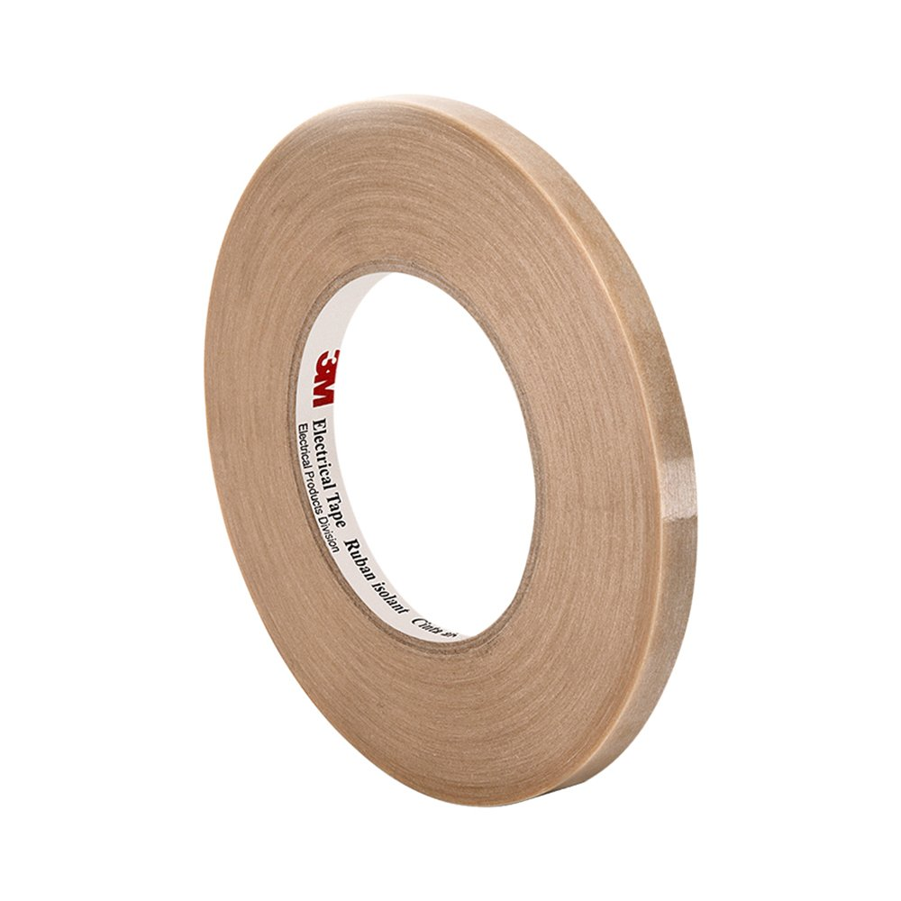3M Filament-Reinforced Electrical Tape 46, 0.375'' width x 60yd length (1 roll), Translucent