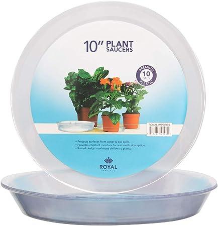 Plastic Garden Flower Pot Plant Saucers Water Tray Base Indoor Outdoor 10-pack
