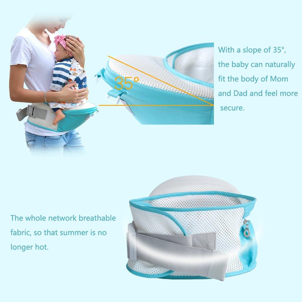 Porte-bébé, CONMING Baby Hip Seat Carrier Totalement respirant sac à dos de  transporteur de bébé avec 8 manières de transport avec le siège détachable  et le ... 25587052749