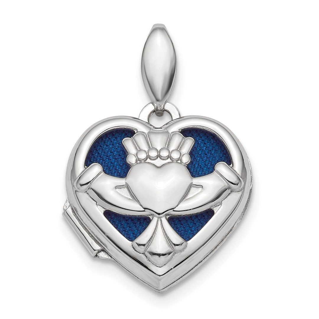 ICE CARATS 925 Sterling Silver Irish Claddagh Celtic Knot Heart Photo Pendant Charm Locket Chain Necklace That Holds Pictures Fine Jewelry Ideal Gifts For Women Gift Set From Heart