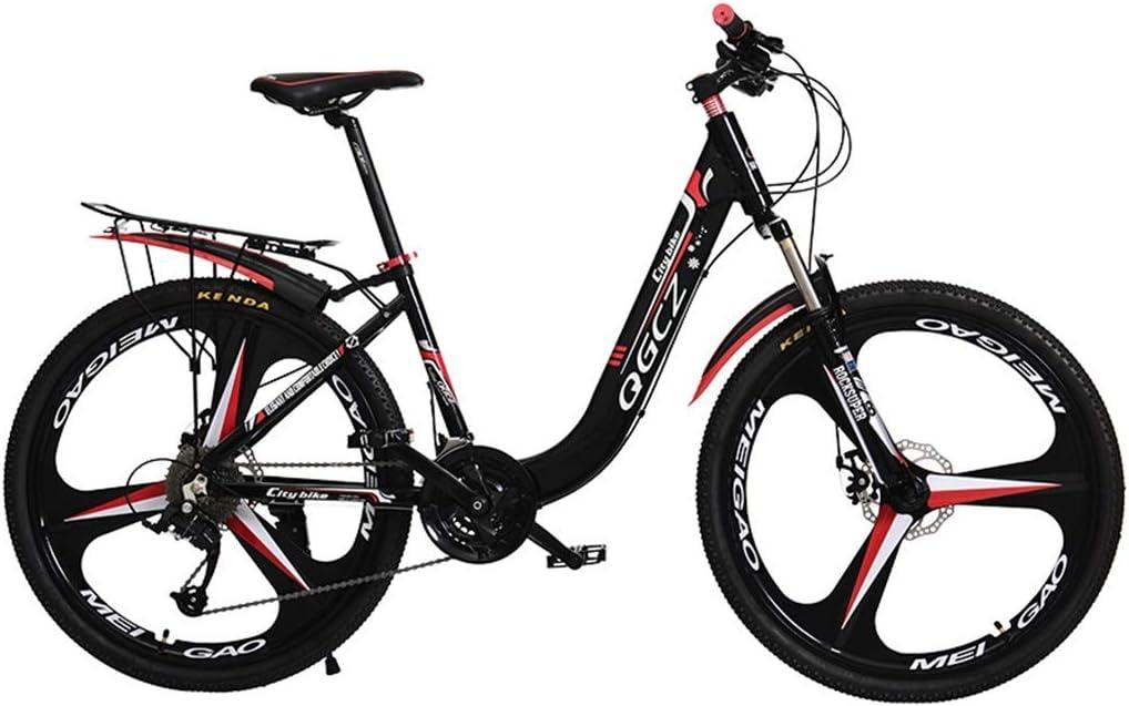 Bicicletas Triciclos Montaña Montaña para Adultos Coche De Competición para Estudiantes Carretera para Estudiantes Niños (Color : Black, Size : 24inch)