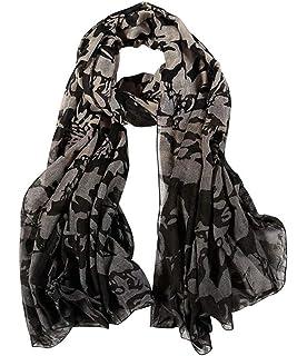 3f0b928fea89 DAMILY Femmes Classique Géométrique Foulard en Soie-Felling Léger Châle  Wrap Femelle Mode Accessoire · EUR 6,39 · DAMILY Foulard Coton  Femmes  Vintage Ombre ...