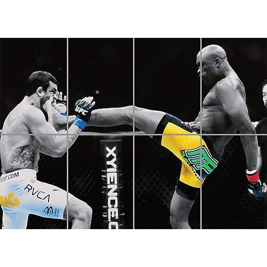 ANDERSON SILVA UFC KICK GIANT WALL ART PRINT PICTURE AFICHE ...