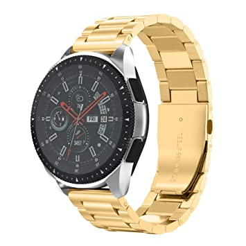 NotoCity Compatible Bracelet Samsung Galaxy Watch 46mm, Bande de Montre en Acier Inoxydable de 22mm