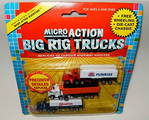 Micro Action Big Rig Trucks 3 Pack Collection #5 (Die Cast Cabover compare prices)