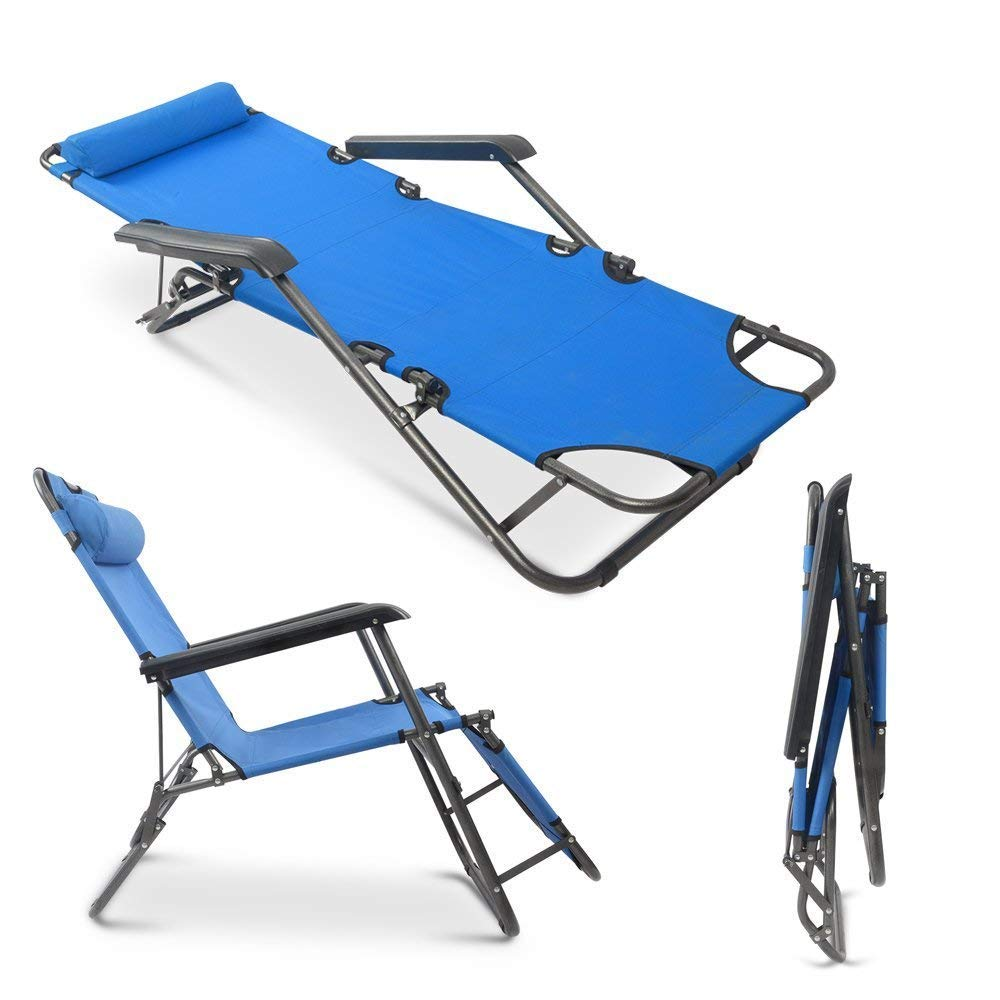 Teekland Folding Camping Reclining Chairs,Portable Zero Gravity Chair,Outdoor Lounge Chairs, Patio Outdoor Pool Beach Lawn Recliner by Teekland