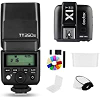 Godox Mini Speedlite TT350S Camera Flash TTL HSS GN36 with X1T-S Transmitter Compatible for Sony Mirrorless DSLR Camera…