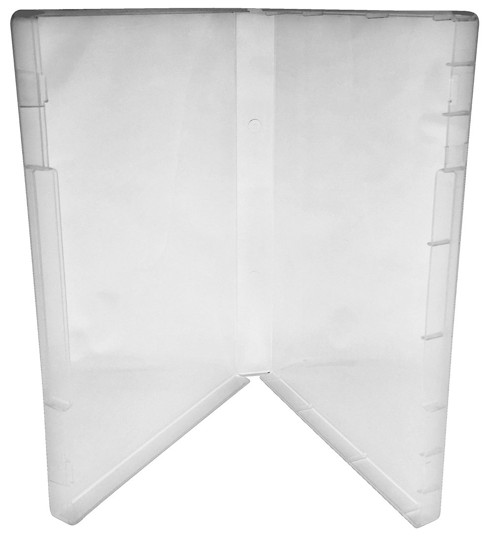 Clear//Spine: 21 mm // 4 Tabs 25 CheckOutStore Plastic Storage Cases for Rubber Stamps