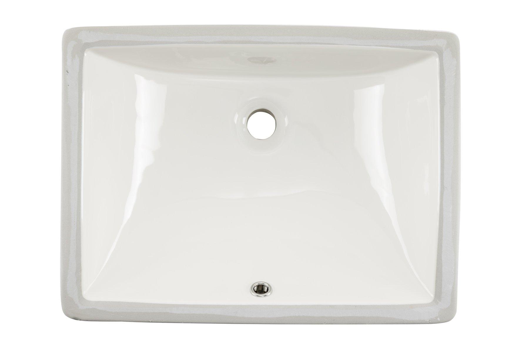 1813CBB 18'' x 13'' Bisque Rectangular Porcelain Undermount Lavatory Bathroom Sink by Magnus Sinks
