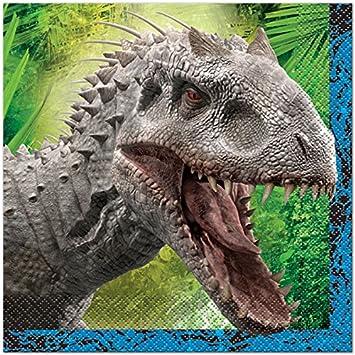 16 Servilletas * Jurassic World * para fiestas de cumpleaños ...