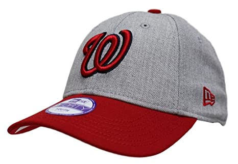best service 40d1a 0cd5a Image Unavailable. Image not available for. Color  Washington Nationals New  Era 9Forty MLB Youth  quot League Heather quot  Adjustable Hat
