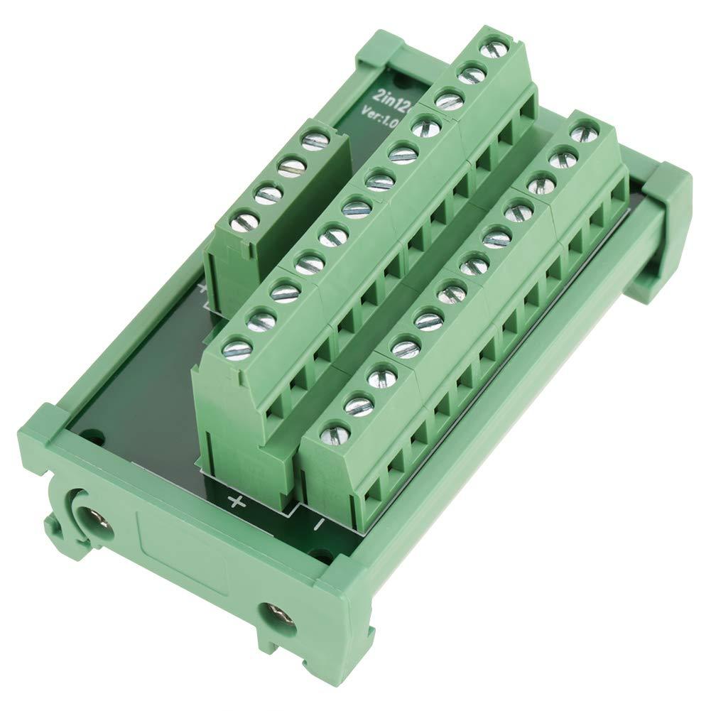 Carte de module interface de montage sur rail DIN panneau de d/érivation de module distribution de lalimentation /à 12 positions accessoires /électriques