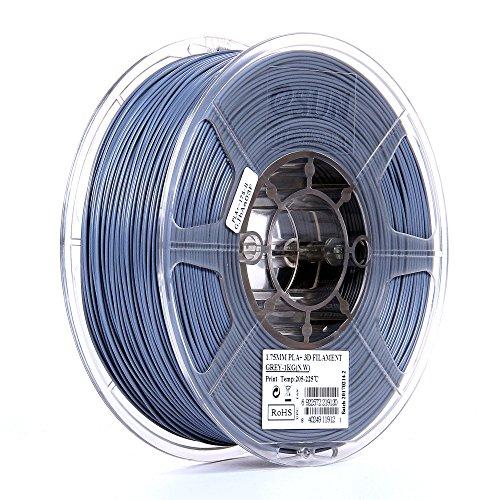 Kg Filament 1 Spool (eSUN 1.75mm Gray PLA PRO (PLA+) 3D Printer Filament 1KG Spool (2.2lbs), Gray)